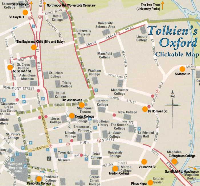 Tolkien S Oxford Map